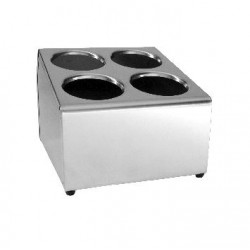 Cutlery Holder 225 x 300 x 222mm Stainless Steel 4 Hole