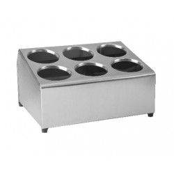 Cutlery Holder 375 x 300 x 210mm Stainless Steel 6 Hole