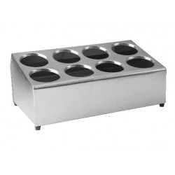 Cutlery Holder 495 x 300 x 210mm Stainless Steel 8 Hole