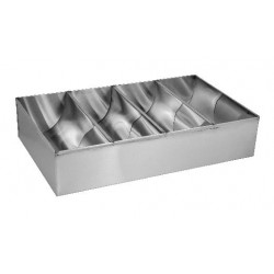 Cutlery Box 430 x 260 x 100mm Stainless Steel 4 Compartment