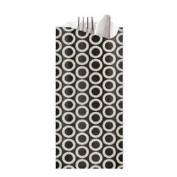 Elag Pochetta Black Circles Cutlery Pouch w/ 3ply White Napkin (250)