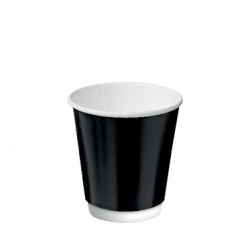 Cast Away Double Wall Paper Hot Cup 8oz / 280ml Black (500)