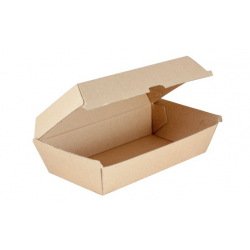Kraft Snack Box Large 230 x 130 x 77mm Supa Flute (200)