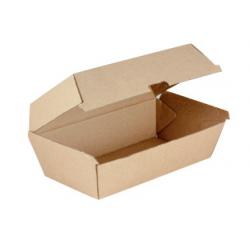 Snack Box Regular 195 x 115 x 84mm Kraft Supa Flute (200)