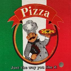 "Pizza Box 13"" / 330 x 330mm Printed (50)"
