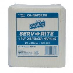 Cast Away White Serve-Rite Dispenser Napkin (6000)