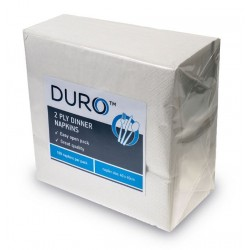 Caprice Duro 2ply White Dinner Napkin 400 x 400mm GT Fold (1000)