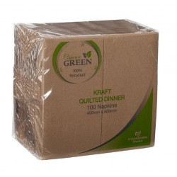 Caprice Green Kraft Quilted Dinner Napkin GT Fold (1000)