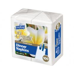 Cast Away Elegance White Dinner Napkin Pocket Fold (1000)