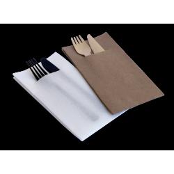 Caprice Platinum Pocket Dinner Napkin White GT (1000)