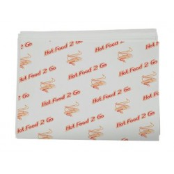"""Cast Away Greaseproof Paper Hot Food 2 Go"""" 310 x 430mm (2000)"""