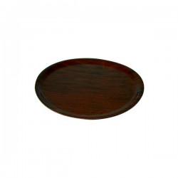 Wood Tray 370mm Round Mahogany (12)