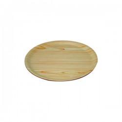 Wood Tray 370mm Round Birch (12)