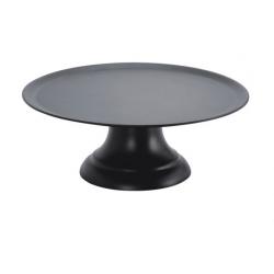 Chef Inox 357mm Cake Plate W/Stand Black Polycarbonate