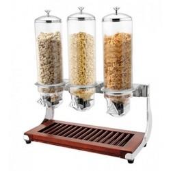 Sunnex Triple Cereal Dispenser Ash Base 3 x 4.0ltr