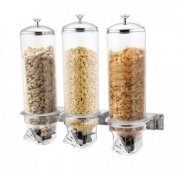Sunnex Triple Cereal Dispenser Wall Mounted 3 x 4.0ltr