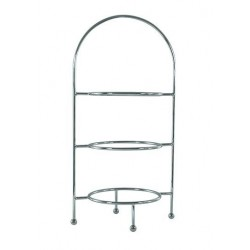 Display Stand Stainless Steel Round 3 Tier 620mm (4)