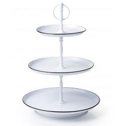 Chef Inox Coney Island Galvanised 3 Tier Tea Stand White