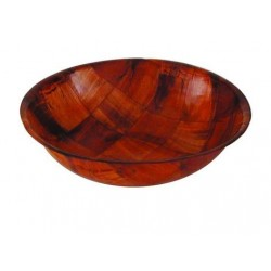 Salad Bowl 350mm Round Woven Wood (12)