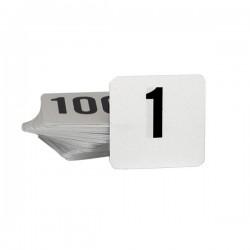 Table Number Set 1-25 Black On White
