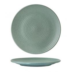Zuma 210mm Ribbed Round Coupe Plate Mint (6)