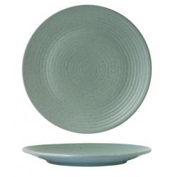 Zuma 265mm Ribbed Round Coupe Plate Mint (6)