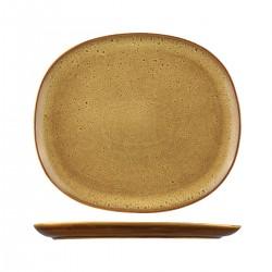 Oval Coupe Plate 335 x 295mm Ora Arica Sango (4)
