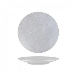 Round Coupe Plate 235mm Grey Web Luzerne Zen (6)