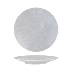 Round Coupe Plate 270mm Grey Web Luzerne Zen (6)