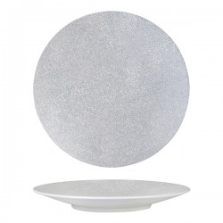 Round Coupe Plate 310mm Grey Web Luzerne Zen (6)