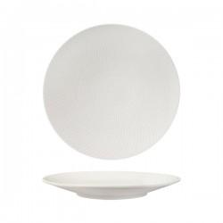 Round Coupe Plate 270mm White Swirl Luzerne Zen (6)
