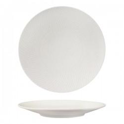 Round Coupe Plate 310mm White Swirl Luzerne Zen (6)