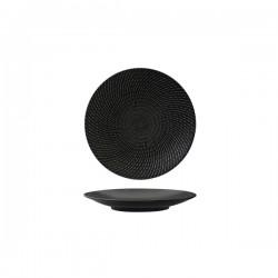 Luzerne Zen 155mm Round Coupe Plate Black Swirl (6)