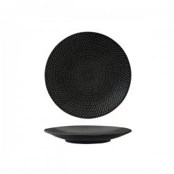 Luzerne Zen 205mm Round Coupe Plate Black Swirl (6)