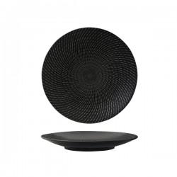 Luzerne 235mm Zen Round Coupe Plate Black Swirl (6)