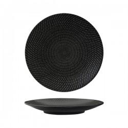 Luzerne Zen 270mm Round Coupe Plate Black Swirl (6)