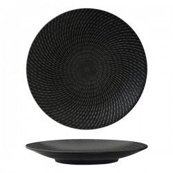 Luzerne Zen 310mm Round Coupe Plate Black Swirl (6)
