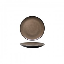 Luzerne 180mm Round Plate Coupe Rustic Chestnut (6)