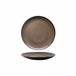 Luzerne 215mm Round Plate Coupe Rustic Chestnut (6)