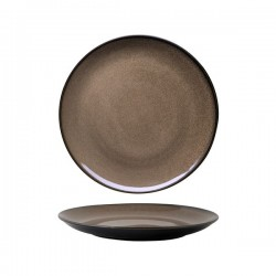 Luzerne 265mm Round Plate Coupe Rustic Chestnut (4)