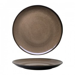 Luzerne 310mm Round Plate Coupe Rustic Chestnut (6)