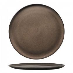 Luzerne 320mm Pizza Plate Rustic Chestnut (6)
