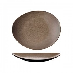 Luzerne 225 x 185mm Oval Plate Rustic Chestnut (6)