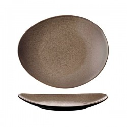 Luzerne 290 x 245mm Oval Plate Rustic Chestnut (3)