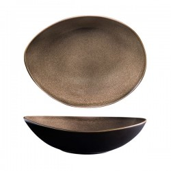 Luzerne 1280ml Oval Share Bowl 280 x 215mm Rustic Chestnut (3)