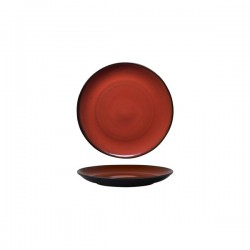 Luzerne 180mm Round Plate Coupe Rustic Crimson (6)