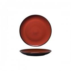 Luzerne 215mm Round Plate Coupe Rustic Crimson (6)