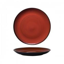 Luzerne 265mm Round Plate Coupe Rustic Crimson (4)