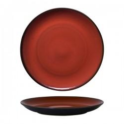 Luzerne 310mm Round Plate Coupe Rustic Crimson (6)