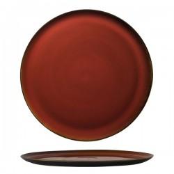 Luzerne 320mm Pizza Plate Rustic Crimson (6)
